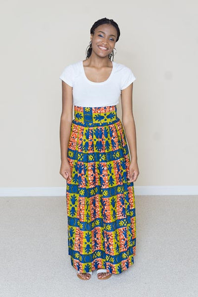 African Print Maxi Skirt - Kelsey