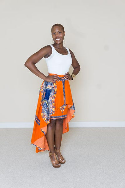 African Print 2-in-1 Skirt - Ifetayo