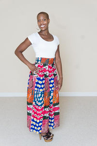 African Print Maxi Skirt- Madison