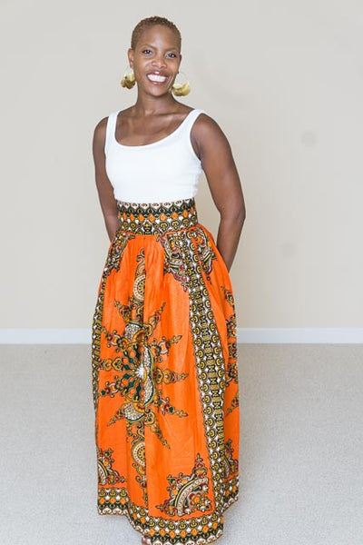 African Print Maxi Skirt - Jackie