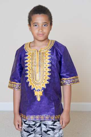 Boys' Dashiki Shirt- Damien