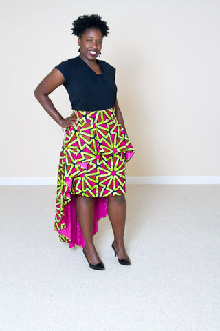 2 in 1 African Print Skirt- Carrie