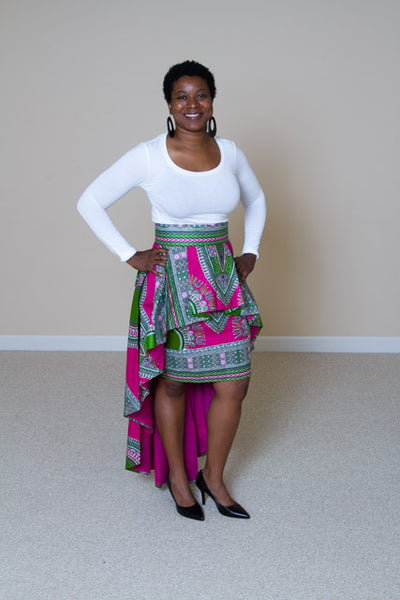 Dashiki Print 2 in 1 Skirt - Lavinia