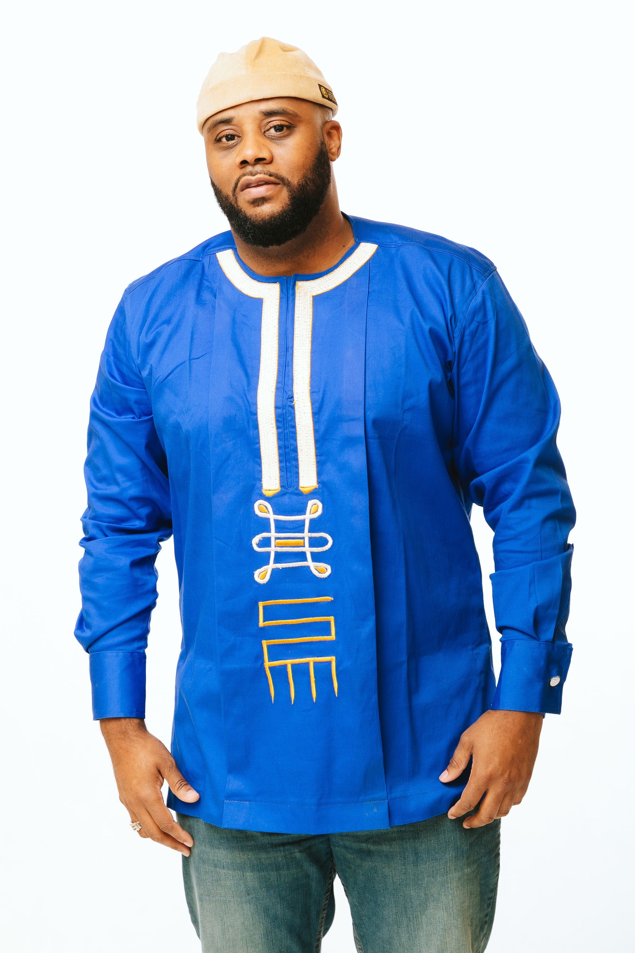 Royal Blue Cotton Shirt