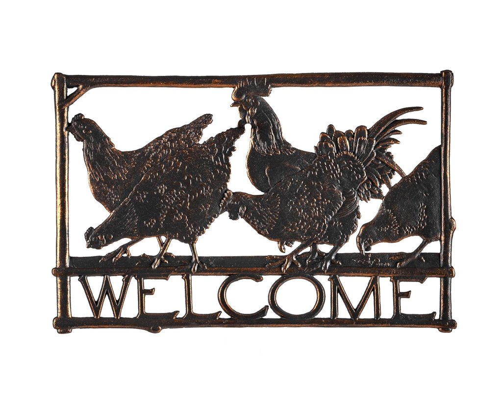 Chickens Welcome Sign