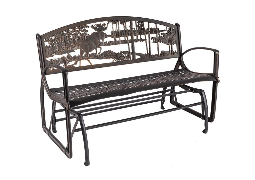 Moose Bear Glider Bench