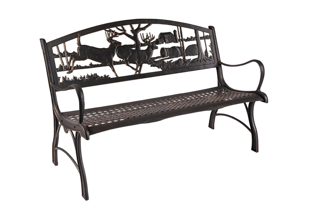 Running Whitetails Bench