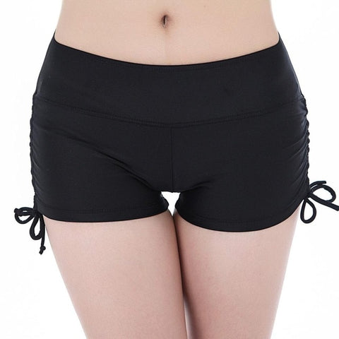 High Waist Women Plus Size Swim Shorts