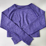 Women Vital Seamless Longsleeve Cropped Tops