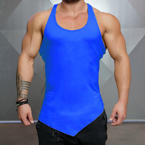 Brand Solid Color Clothing Gyms tank top