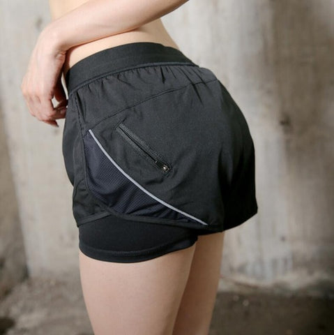 Anti-light yoga gym running sportwear shorts