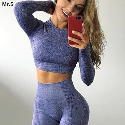 Vital seamless yoga top long sleeve workout tops