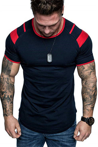 Men Gym Fitness Workout Training Short sleeve T-shirts
