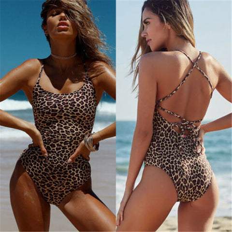 High Cut Leg Women Swim Wear Beach Suits