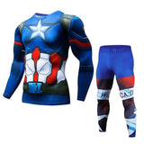 Mens Batman Captain America Running Clothes