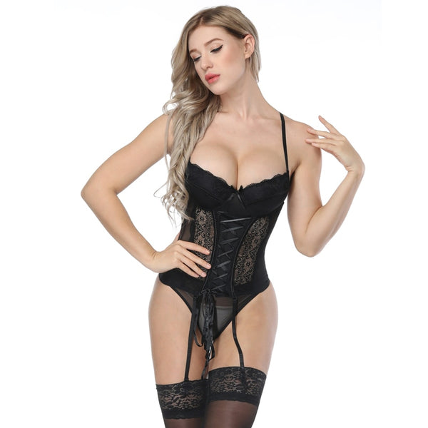 Tie Me Up Corset + Panty Set