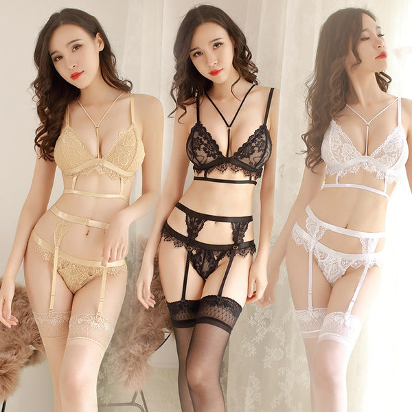 Goddess Three Piece Lingerie Set