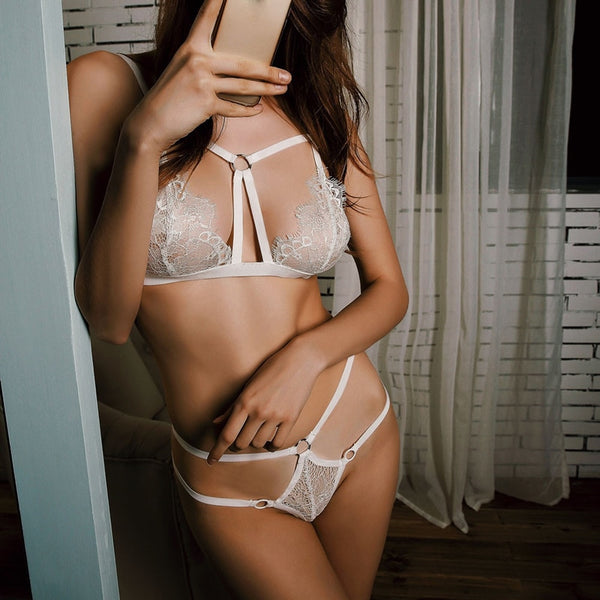 Anna Lace Bra + Thong Set