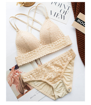Wasteheart Lace Bra + Panty Set