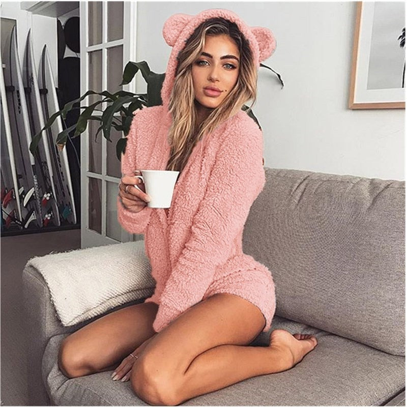 Hooded Fleece Jumpsuit