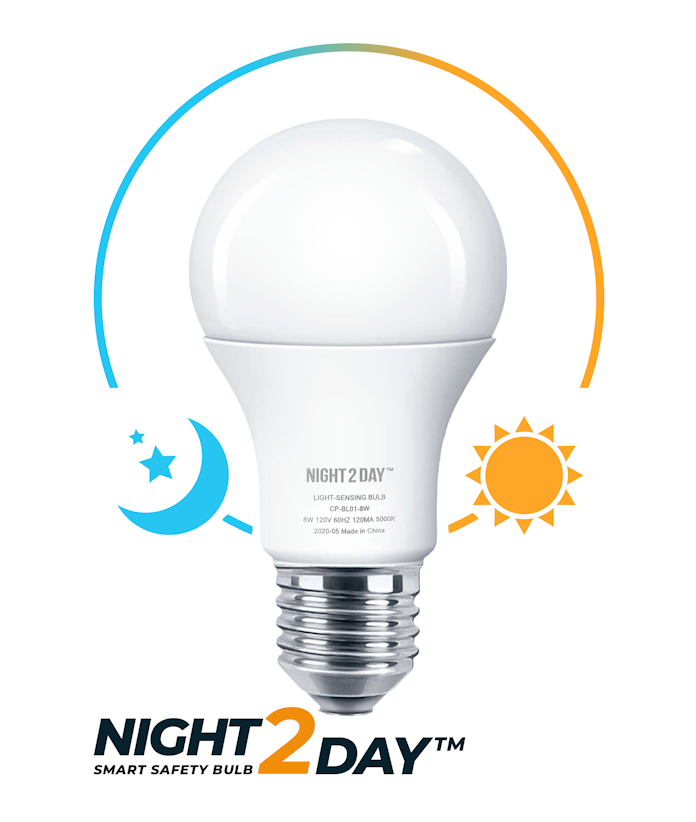 Night2Day™ Smart Safety Bulb