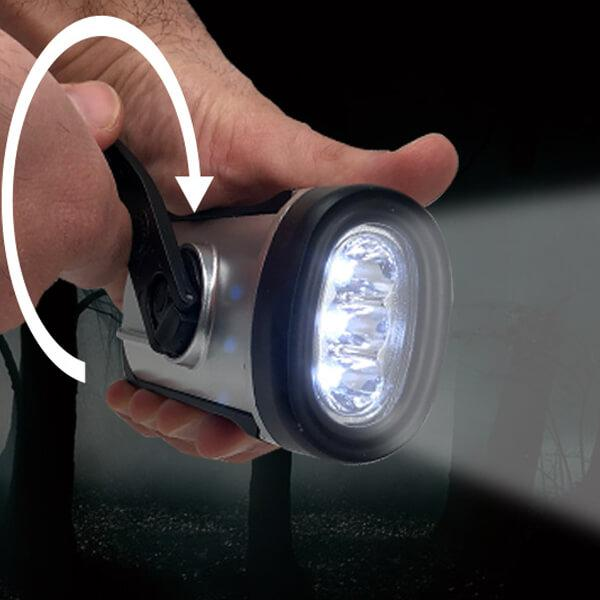 Solar/Crank LED Flashlight - Boundery