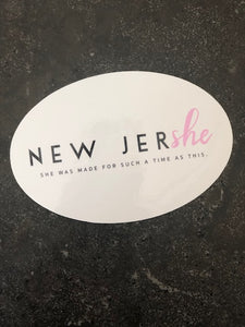 "New JerSHE ""She Was Made"" Sticker"