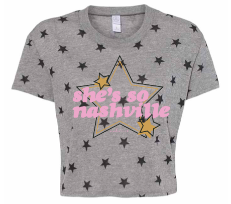 Multi-Star Crop Tee