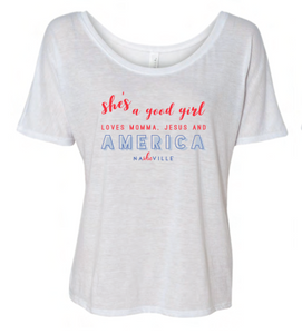 """SHE's a Good Girl"" America Tee"