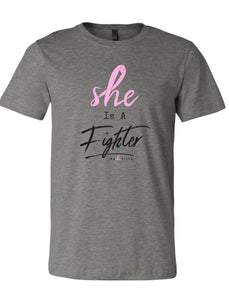 """Fighter"" Breast Cancer Tee"