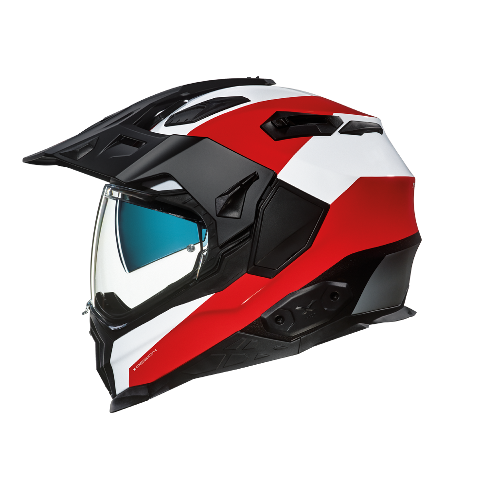 Casco NEEX Adventure X.WED 2 Duna Rojo-Blanco