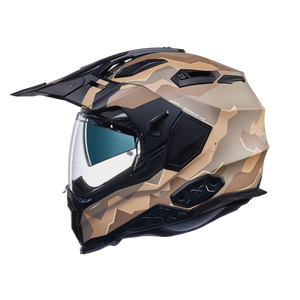 Casco NEXX Adventure X.WED 2 Hill End Blanco-Negro-Naranja