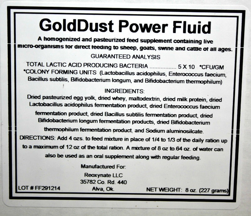 Gold Dust Power Fluid - 8 oz Packets
