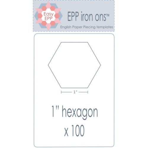 "1"" Hexagon EPP Iron On Papers"
