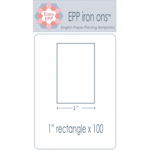 "1"" x 2"" Rectangle EPP Iron On Papers"
