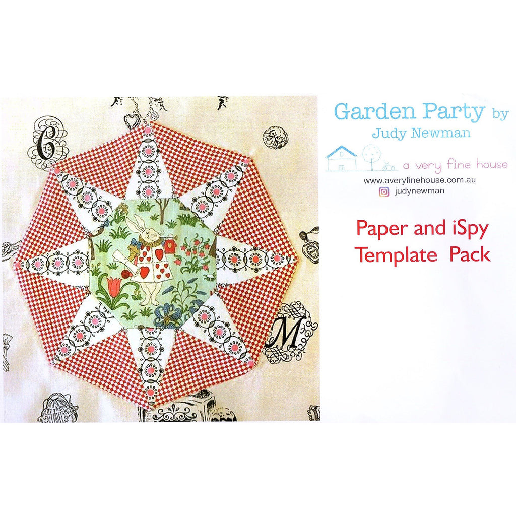 Garden Party Quilt Pattern & Templates - Judy Newman