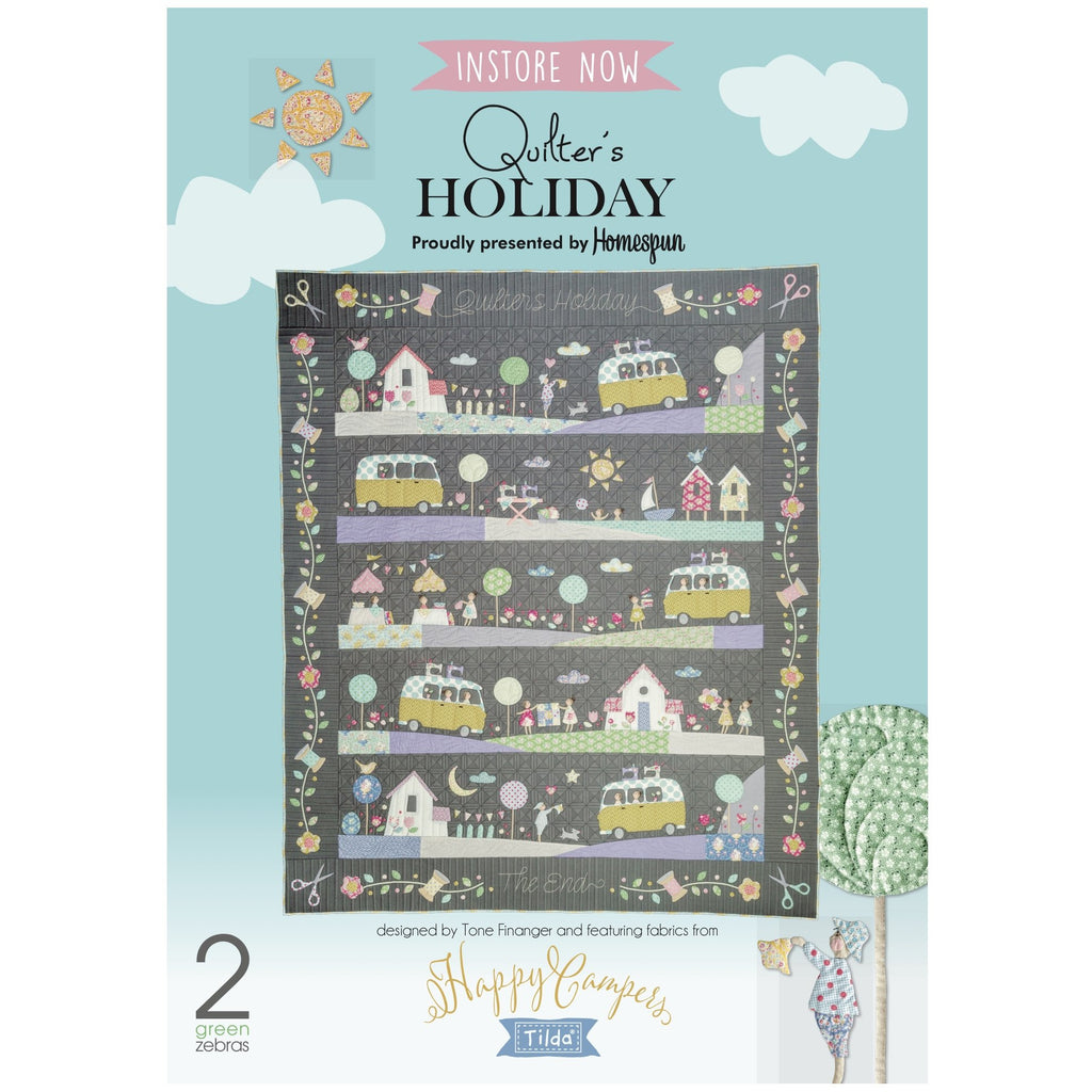 'QUILTERS HOLIDAY' Tilda Happy Campers - BI-MONTHLY OPTION -  Homespun BOM