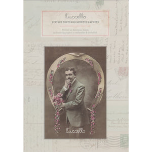 Vintage Postcard Scented Sachets - Man with Posy Postcard - Lucello