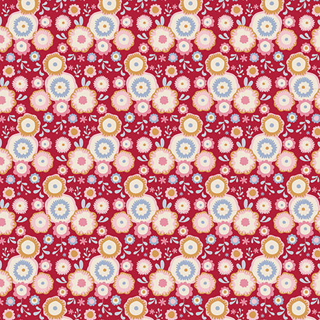 Tilda Candy Flower Red FAT QUARTER - 481130