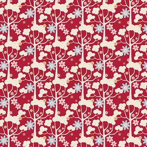 Tilda Wildgarden Red FAT QUARTER - 481134