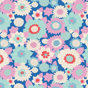 Tilda Boogie Flower Blue FAT QUARTER - 100011