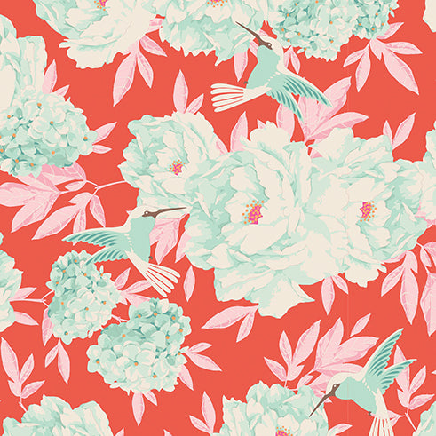 Tilda Hummingbird Coral FAT QUARTER - 100002