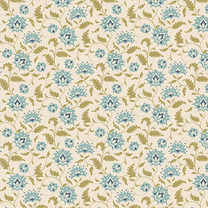 Tilda Ahlia Teal FAT QUARTER - 481116