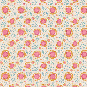 Tilda Sunflower Dove White FAT QUARTER - 481080