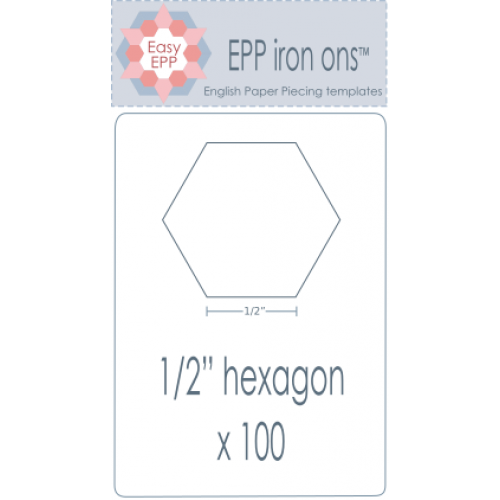 "1/2"" Hexagon EPP Iron On Papers"