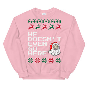 Mean Girls She Doesn't Even Go Here Christmas Sweater