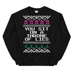 Elf You Sit On A Throne Of Lies Christmas Sweater | Tipsy Aunt