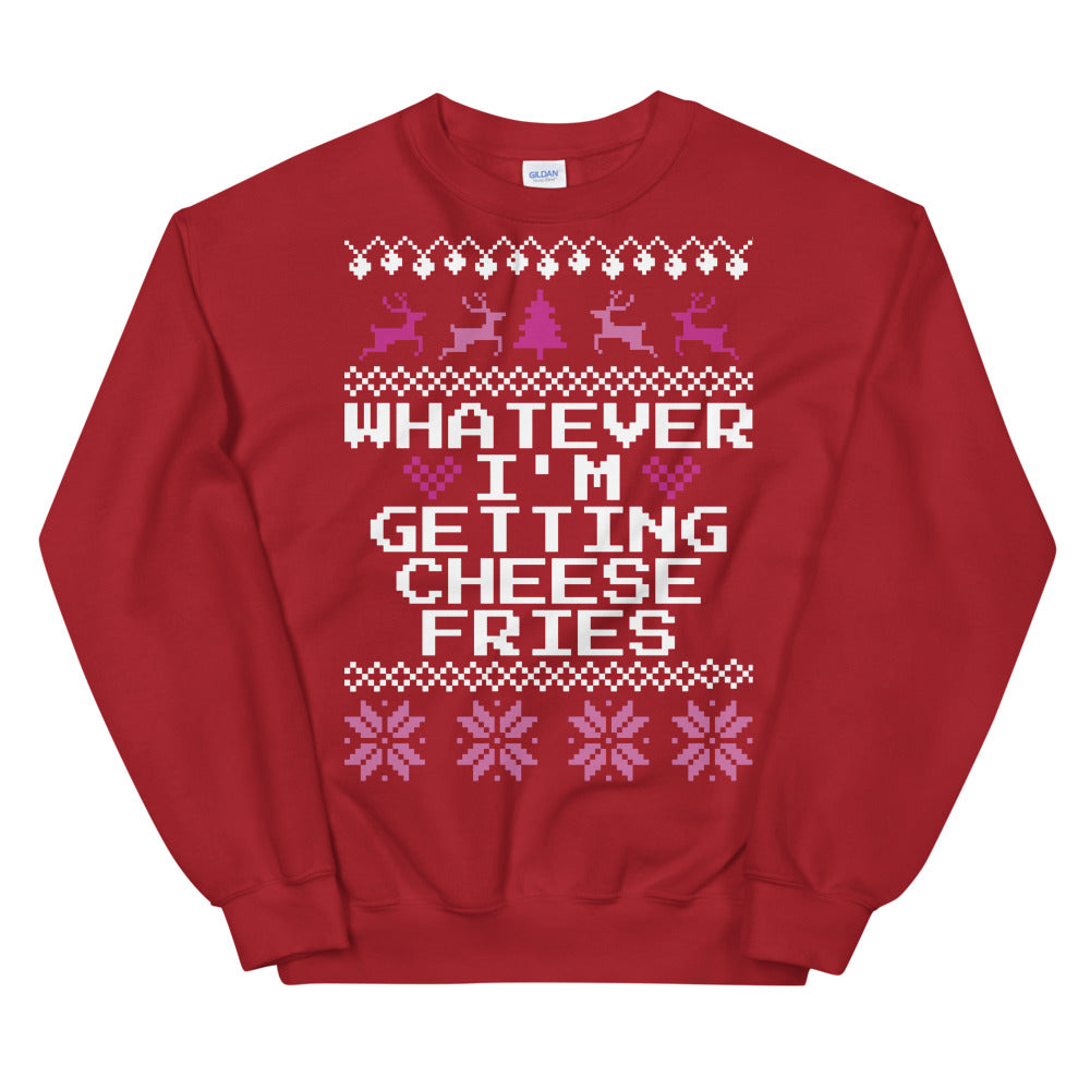 Mean Girls Whatever I'm Getting Cheese Fries Christmas Sweater