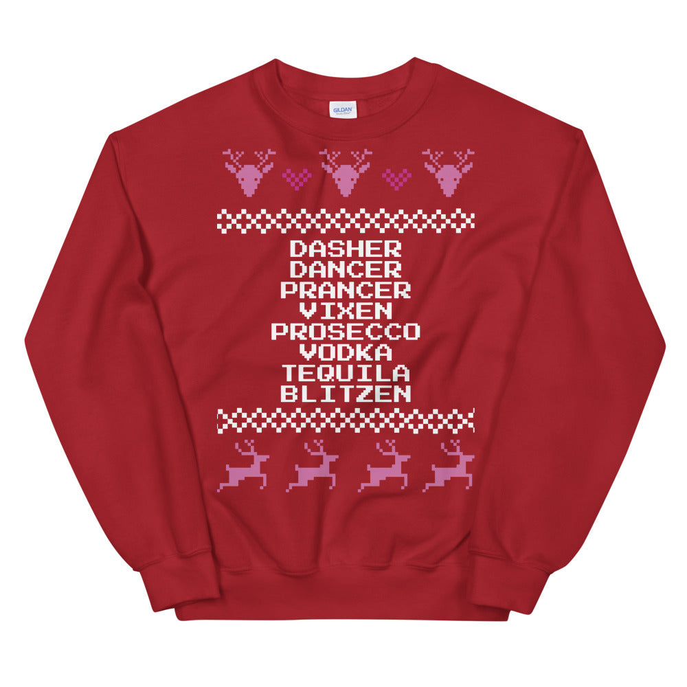 Drunk Reindeer Christmas Sweater