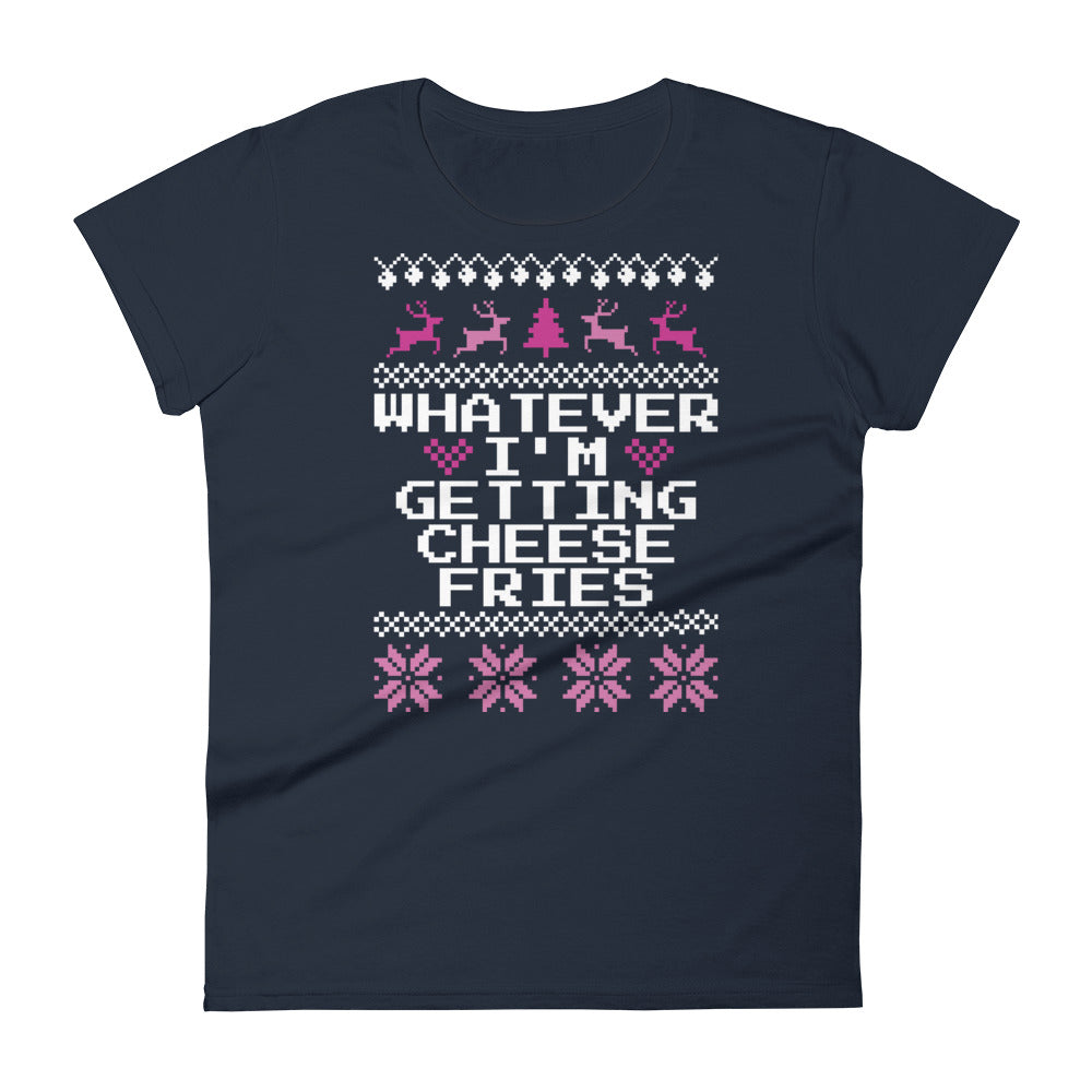Whatever I'm Getting Cheese Fries Toddler Christmas Tee | Tipsy Aunt